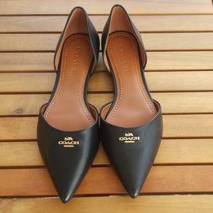 Leather Coach Flats